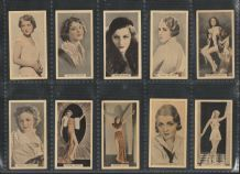 Cigarette cards set  Stage & Cinema Beauties  1933  set of  Movie stars